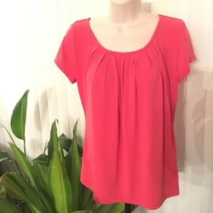 Coral Pink Top by New York and Co Size Small
